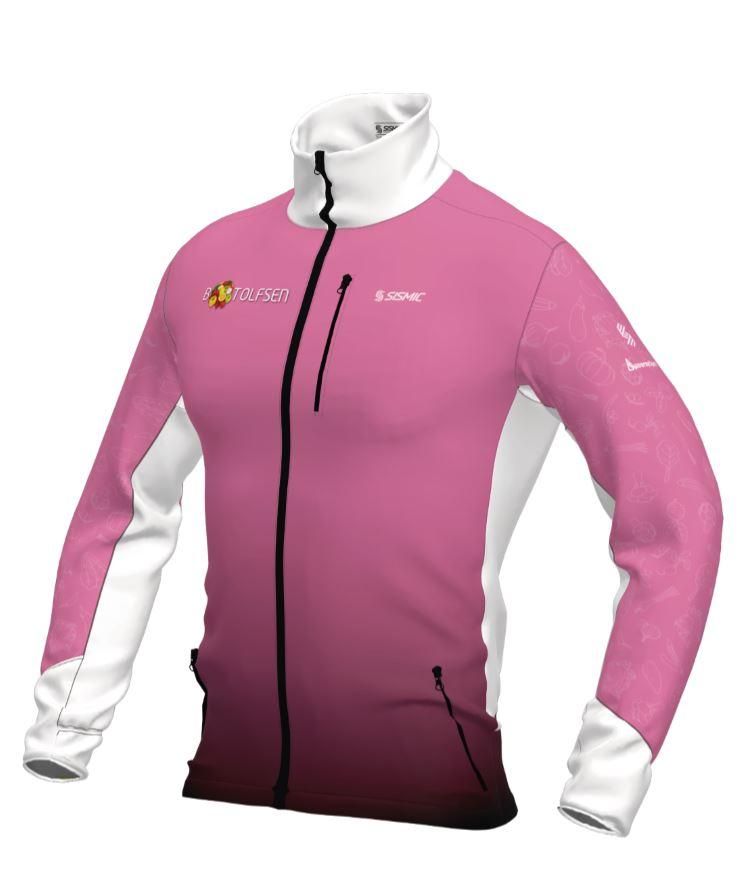 Giant Sykkeldrakt Langarmet Sykkeltrøye og Sykkelbukse rosa